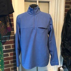 L.L. Bean soft blue fleece EUC - high collar M